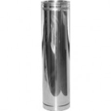 Twin Wall Flue 6 inch 1000mm Straight length Stainless Finish